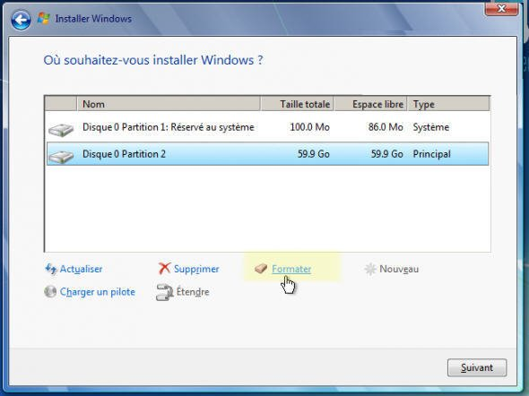 formater windows 7 sans cd dinstallation